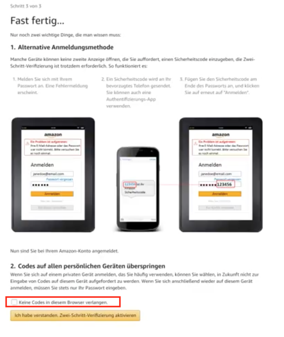 Amazon Bankdaten ändern